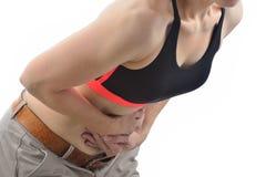 żołądek bólowa kobieta Zdjęcie Stock