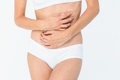 żołądek bólowa kobieta Fotografia Royalty Free