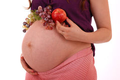 żołądek ciężarna kobieta Obraz Stock