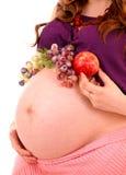 żołądek ciężarna kobieta Obrazy Royalty Free