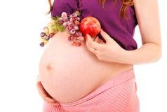 żołądek ciężarna kobieta Fotografia Royalty Free