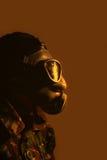 Żołnierz jest ubranym maskę gazową Obrazy Stock