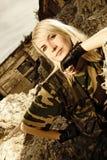 żołnierz piękna kobieta Zdjęcia Stock