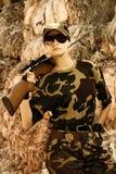 żołnierz piękna kobieta Zdjęcie Stock