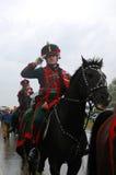 Żołnierz target592_0_ przy dziejowym reenactment Fotografia Stock