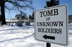 żołnierza grobowa nieznane Zdjęcia Stock