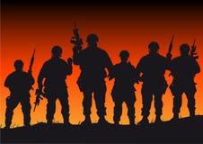 żołnierze ilustracja wektor