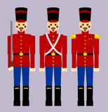 żołnierze drewniane Zdjęcia Royalty Free