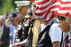 Żołnierze i weterani przy Memorial Day zdjęcie stock