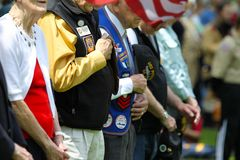 Żołnierze i weterani przy Memorial Day obraz stock