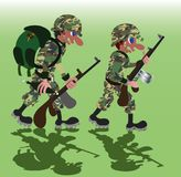 Żołnierze na Marzec Bez zbiornika ilustracji