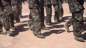 Żołnierze na paradzie przy świętem państwowym zdjęcie wideo