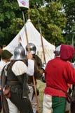 Żołnierze w obozie obraz stock