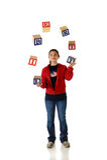 żonglerki swoboda usa Fotografia Stock