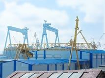 żuraw duży stocznia Zdjęcia Stock