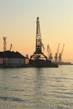 żurawia port Zdjęcie Stock