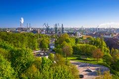 Żurawie stocznia w Gdańskim Obraz Royalty Free