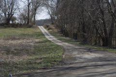 Żwir droga dojazdowa obraz stock