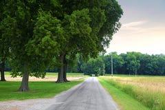 Żwir droga w Indiana zdjęcie stock