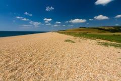 Żwir plaża, końcówka Chesil bank obrazy stock