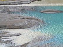Żwiru bank glacjalny strumień Obrazy Royalty Free