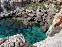 Żwiru Grecja zadziwiający widok zdjęcie stock