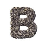 Żwiru listowy b natura, środowisko, materiały budowlani lub nieruchomości pojęcie, - kapitał 3d miażdżąca rockowa chrzcielnica - ilustracja wektor