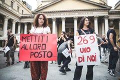 269 żyć manifestacja w Mediolan na Wrześniu, 26 2013 Zdjęcia Stock