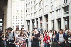 269 żyć manifestacja w Mediolan na Wrześniu, 26 2013 Obrazy Royalty Free