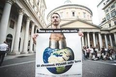 269 żyć manifestacja w Mediolan na Wrześniu, 26 2013 Fotografia Royalty Free