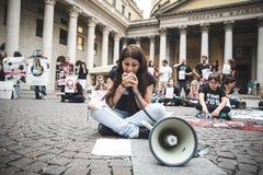 269 żyć manifestacja w Mediolan na Wrześniu, 26 2013 Zdjęcie Royalty Free