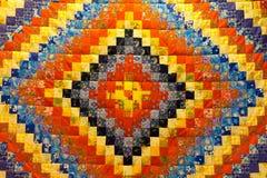Żyłkowany tło w patchwork tkaninach Obraz Stock