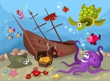 życia morze royalty ilustracja