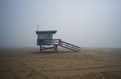 życia popołudniowy foggyy strażowy wierza Zdjęcia Royalty Free