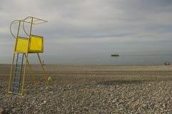 Życia strażowy wierza w czarnym morzu Fotografia Royalty Free