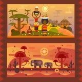 życie afrykańskiej royalty ilustracja