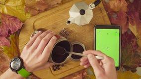 życie ciągle jesieni Chroma kawa i zdjęcie wideo