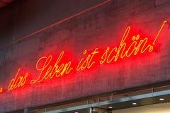 Życie jest dobry w Niemieckim języku zdjęcia stock