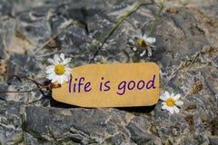 Życie jest dobrym etykietką zdjęcie royalty free