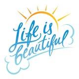 Życie jest Piękny royalty ilustracja