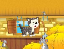 Życie na gospodarstwie rolnym - ilustracja dla dzieci Obrazy Stock