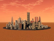 Życie na Mars royalty ilustracja