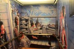 Życie na Niesamowitym kanale malował inside windę, Niesamowity Kanałowy muzeum, Syracuse, Nowy Jork, 2017 obrazy stock