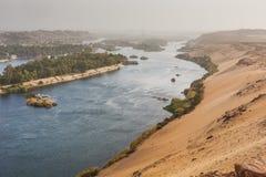 Życie na Rzecznym Nil Aswan, Egipt obrazy royalty free