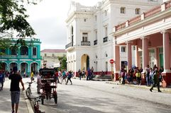 Życie na ulicach Kubański miasto obrazy stock