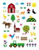 życie rolny set ilustracji