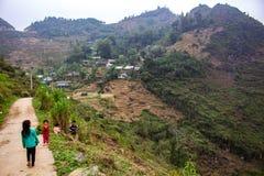 Życie w dalekiej wiosce północny Wietnam Zdjęcia Royalty Free