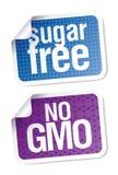 życiorys jedzenia bezpłatny etykietek cukier Obrazy Stock