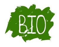 Życiorys zdrowa żywności organicznej etykietka i wysokiej jakości produkt odznaki Eco, 100 życiorys i naturalnego produktu ikona, royalty ilustracja