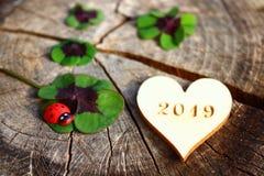 Życzę ci szczęśliwego nowego roku 2019! zdjęcie royalty free